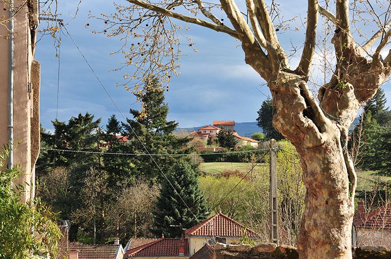 saint-haon-le-châtel, village de caractère dans le roannais, panorama