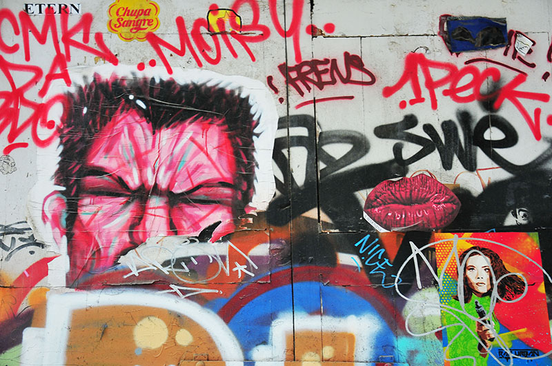 street-art, quartier el born, barcelone