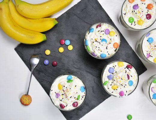 recette de dessert aux smarties: tiramisu bananes et smarties