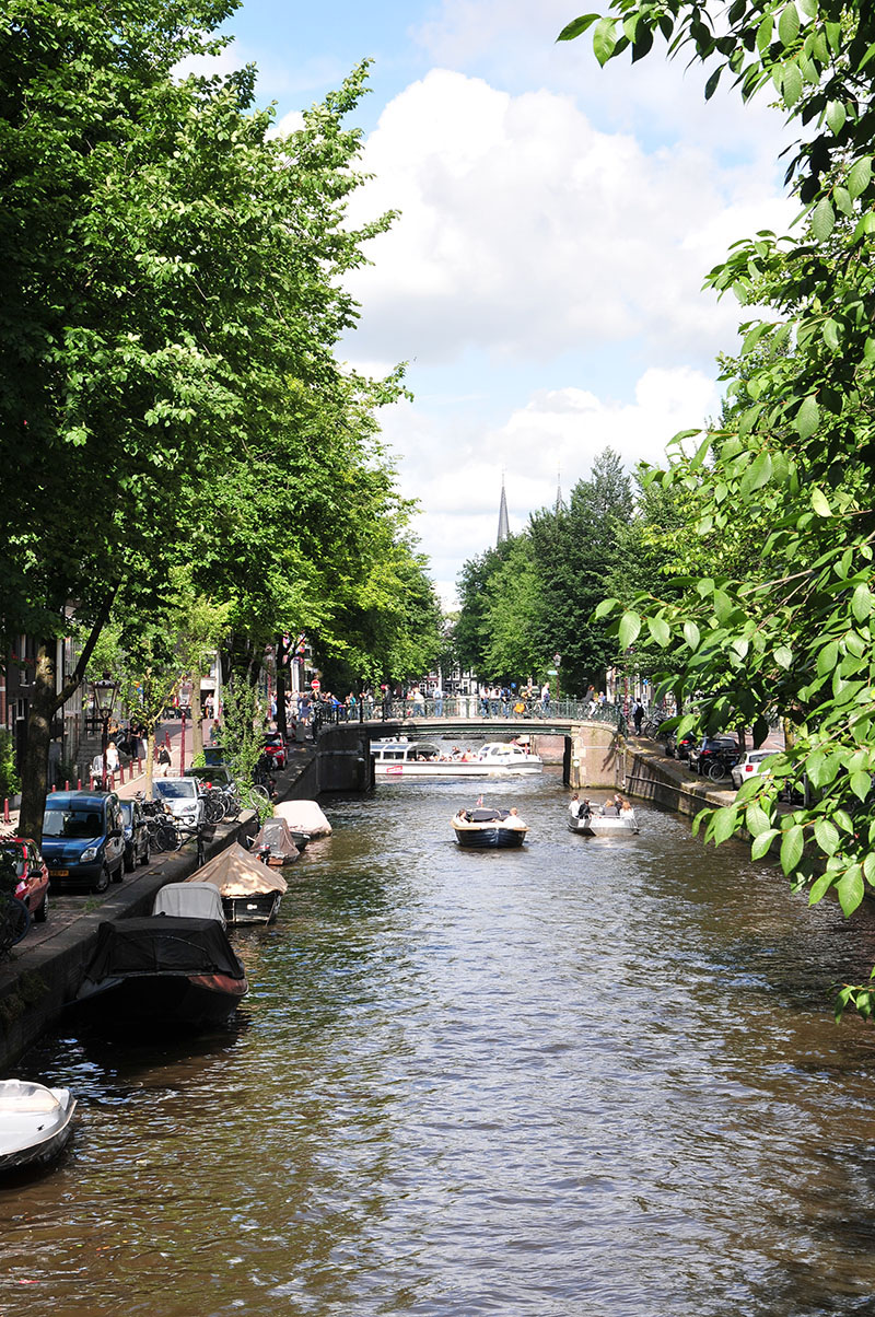 balade le long des canaux, amsterdam