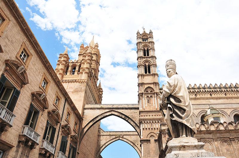 itinéraire d'un road-trip en sicile, cathédrale de palerme