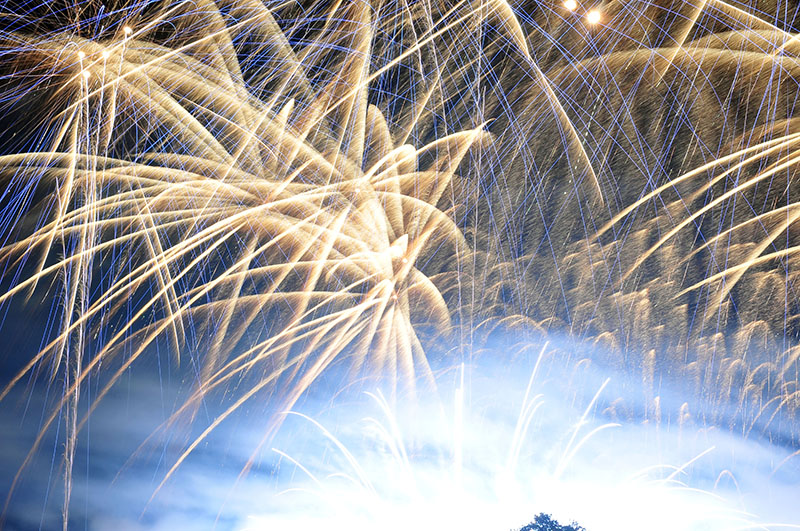avis et photographies du spectacle pyrotechnique des masters de feu à compiègne