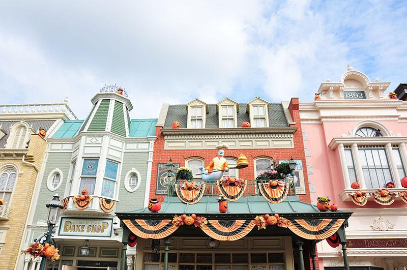halloween et décorations sur le thème de l'automne à Disneyland Paris
