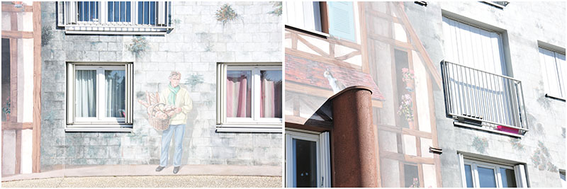 fresques de bel air, murs peints en trompe-l'oeil, choses à faire à chartres