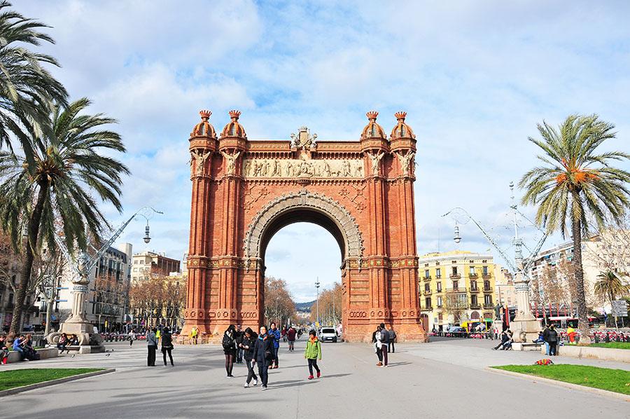 arc de triomphe, barcelone, el born