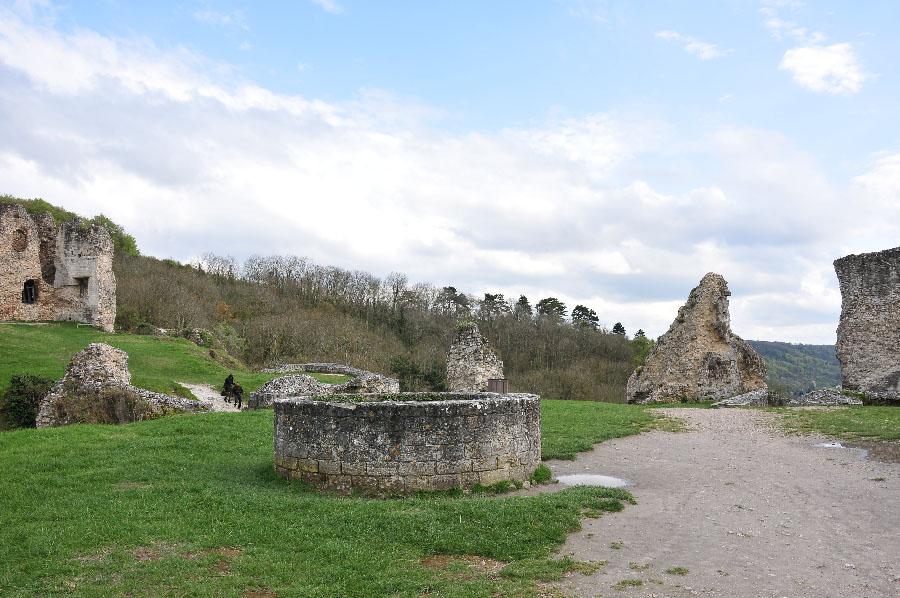 chateau gaillard, autour de giverny, eure, normandie