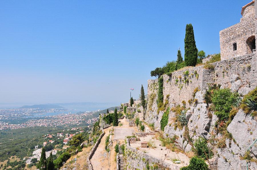château de Klis , à une trentaine de minutes de Split , lieu de tournage de la série Games of Thrones en Croatie