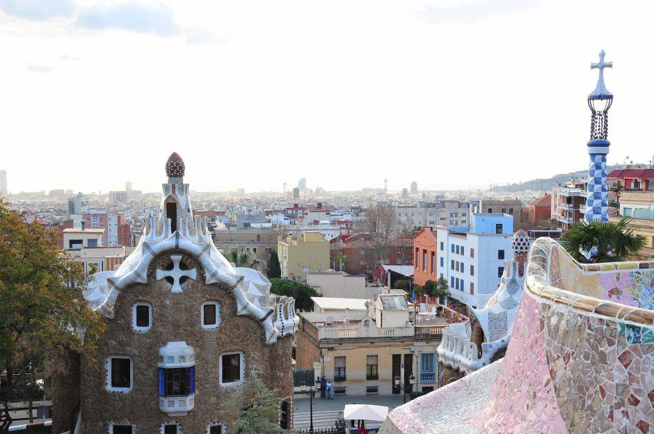 vue sur Barcelone depuis le parc Guell