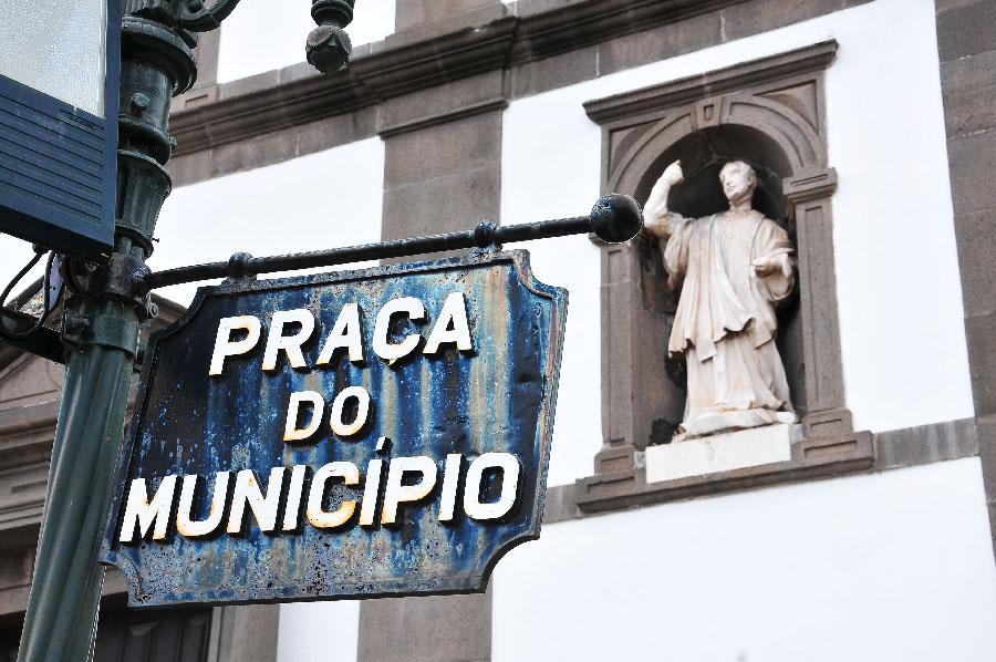 praça do municipio, madère