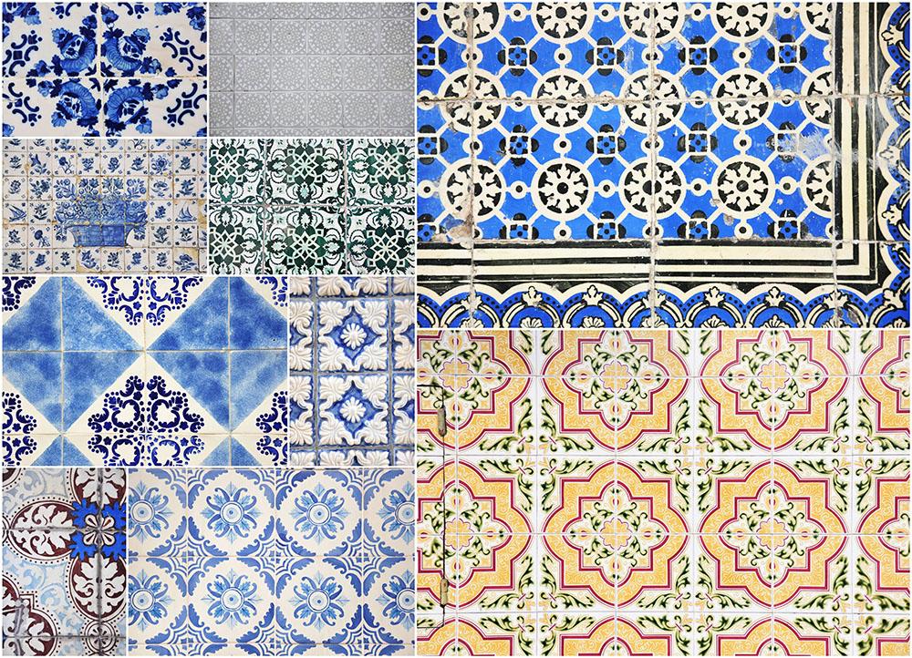 azulejos, faïences sur les façades de Porto