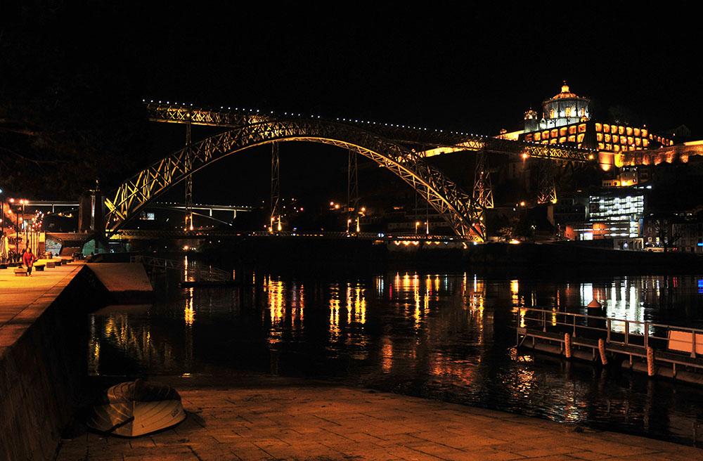 rives du douro de nuit à porto