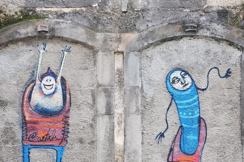 oeuvres de costah, roi du street-art à Porto