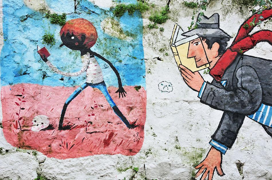 rua de Miguel Bombarda, street-art à Porto, david pintor