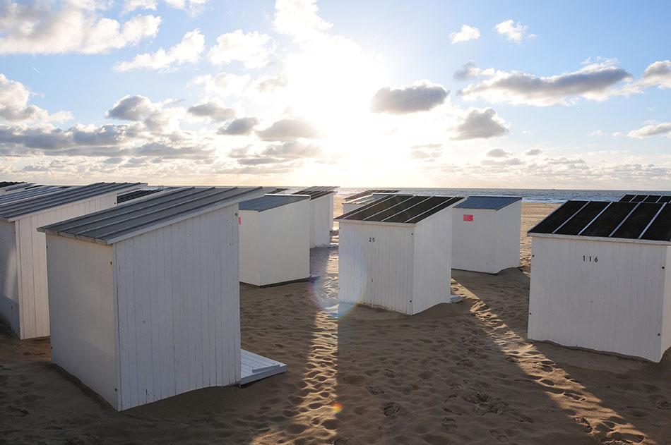 week-end à bruges et ostende en belgique, cabanes sur la plage