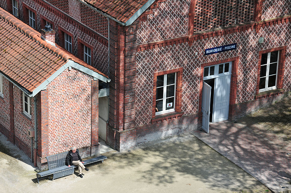 choses à faire dans l'aisne, visite du Familistère de Guise, de Jean-Baptiste André Godin: vue depuis la terrasse