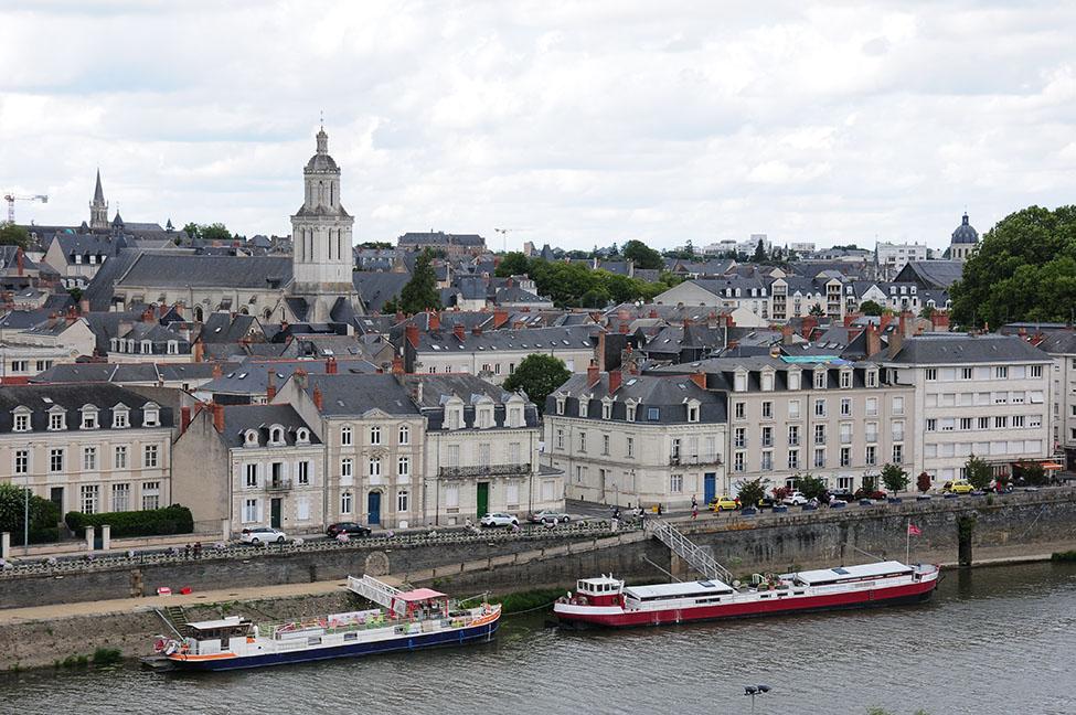 vue sur le Maine et la ville d'Angers