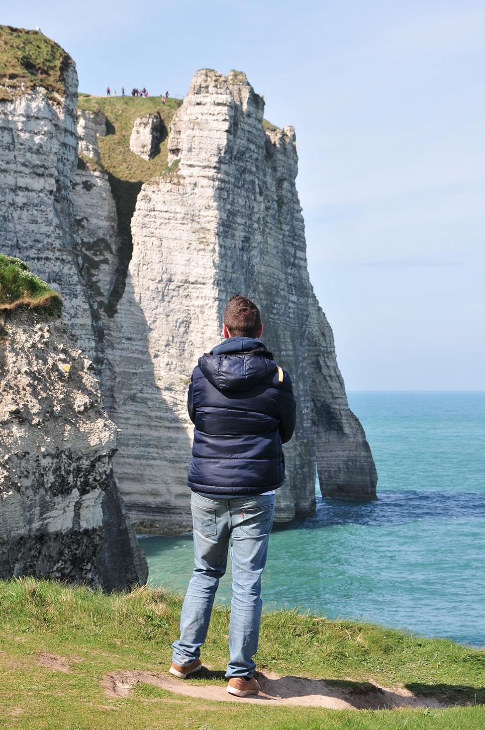 mini road-trip sur les côtes en normandie: falaises d'étretat