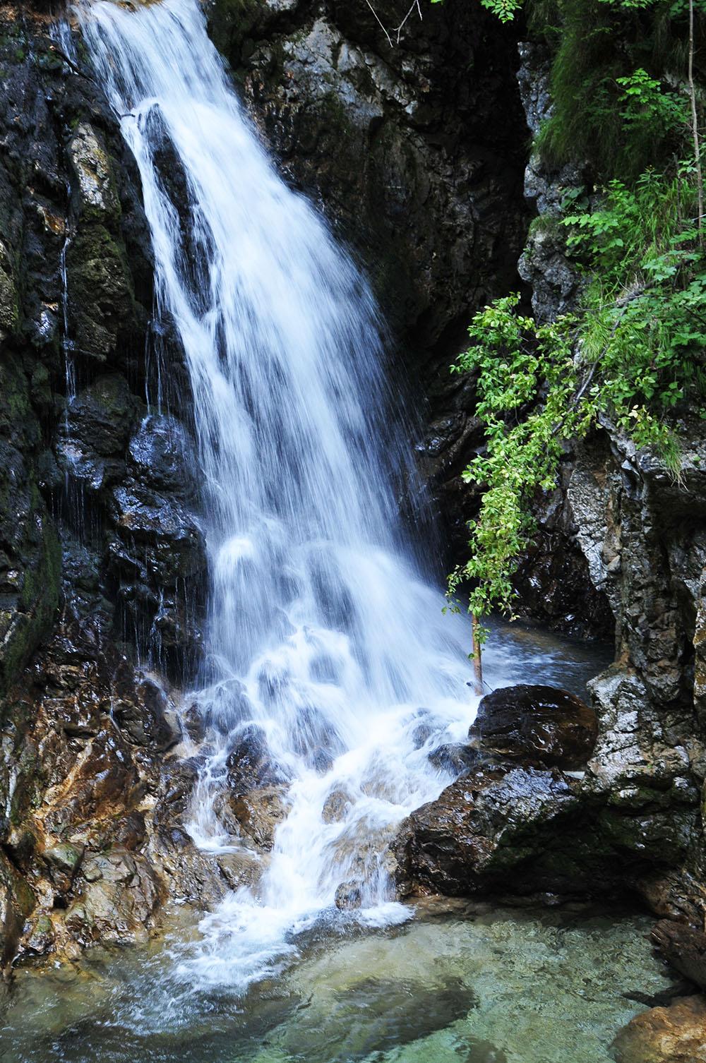 gorges de vintgar, slovénie, cascade