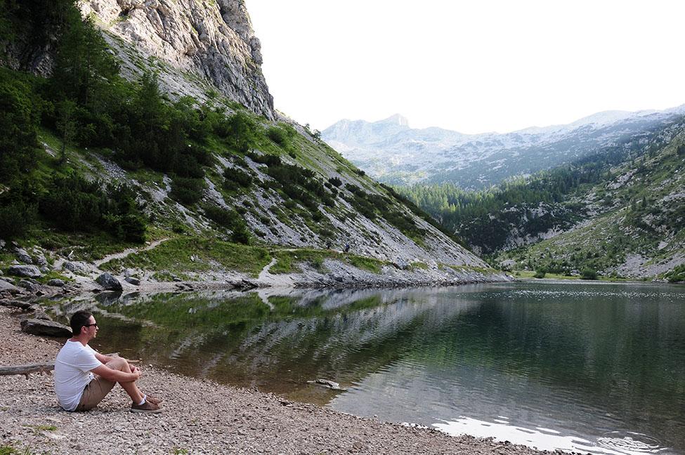 Krnsko jezero, lac krn, plus grand lac de haute altitude en Slovénie