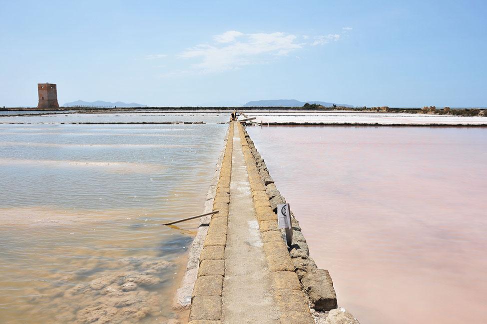 route du sel entre trapani et marsala