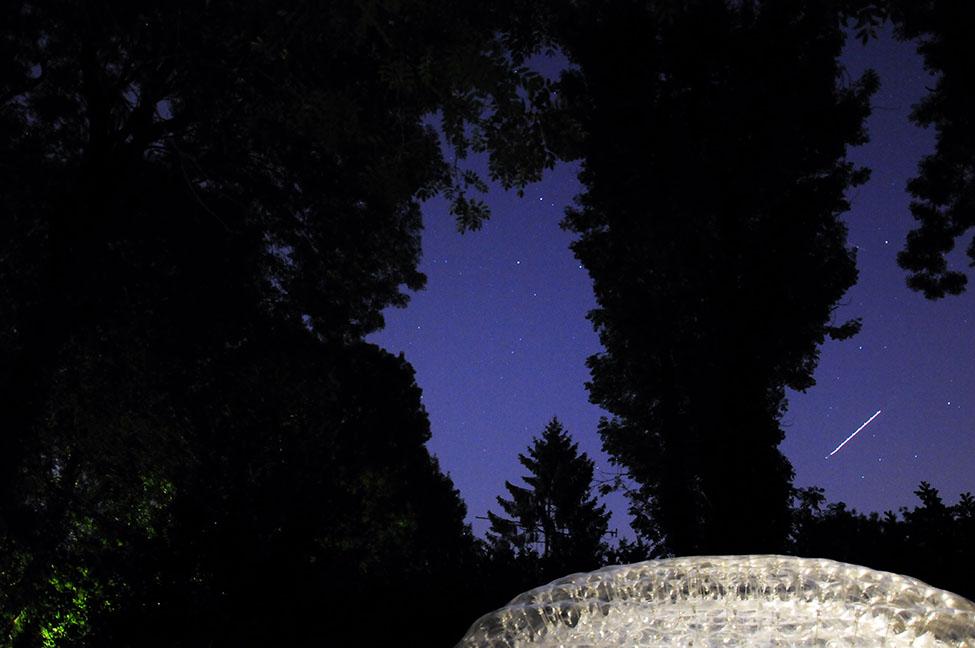 une nuit en bulle saint-leu d'esserent, le pré des moines