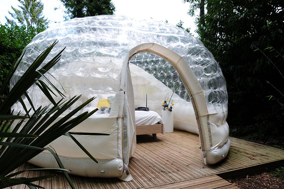 nuit en bulle romantique et insolite notre avis sur la bulle de chantilly. Black Bedroom Furniture Sets. Home Design Ideas