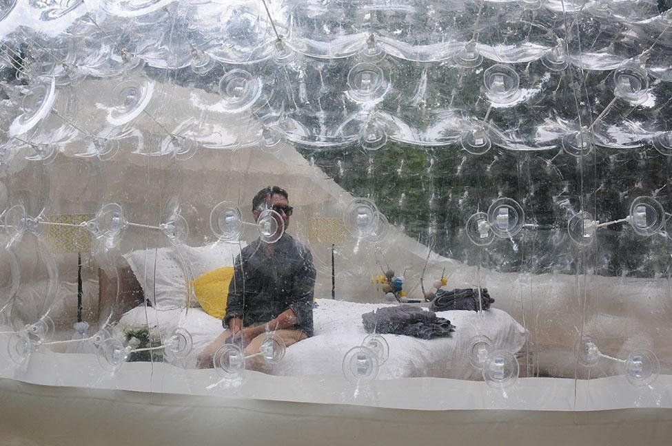 choses à faire dans l'oise : dormir dans une bulle à chantilly