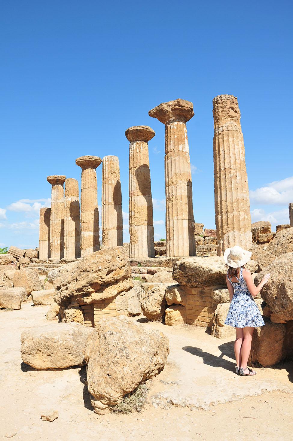 road-trip en sicile: visite de la vallée des temples à agrigente, temple d'héraclès