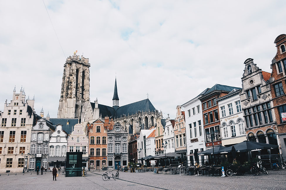 grand place, malines, tour cathédrale