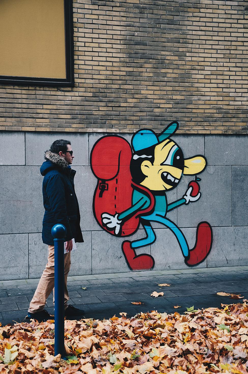 street-art à charleroi , parcours dans la ville
