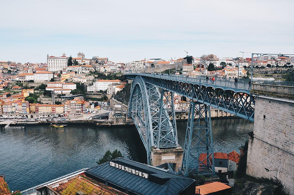vue sur porto depuis le pont dom luis