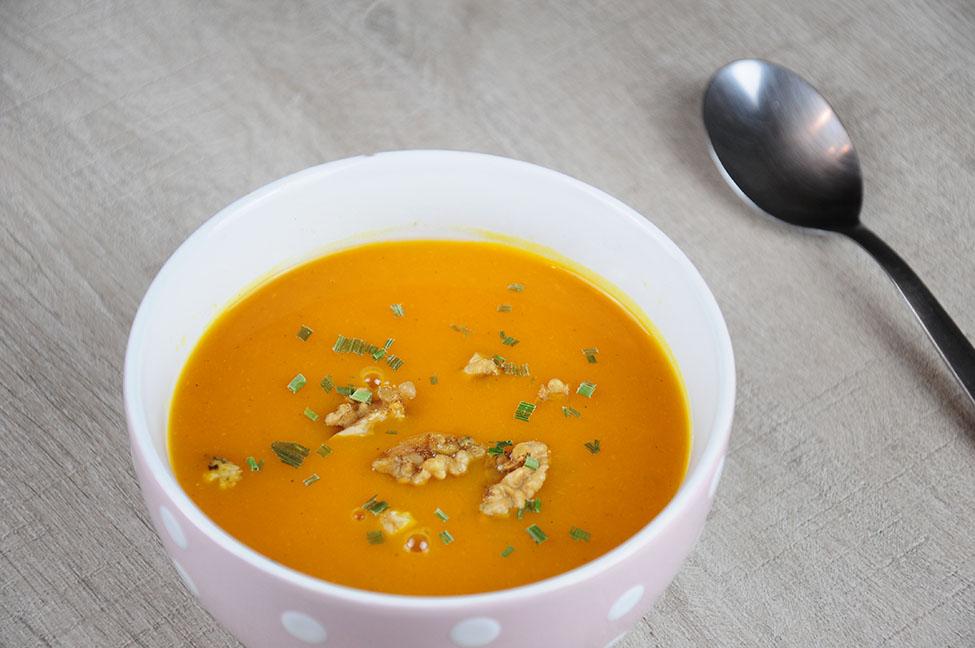 recette, soupe de potimarron au multicuiseur