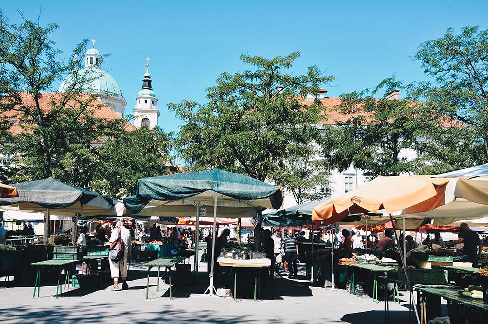 marché central de Ljubljana , road-trip en slovénie