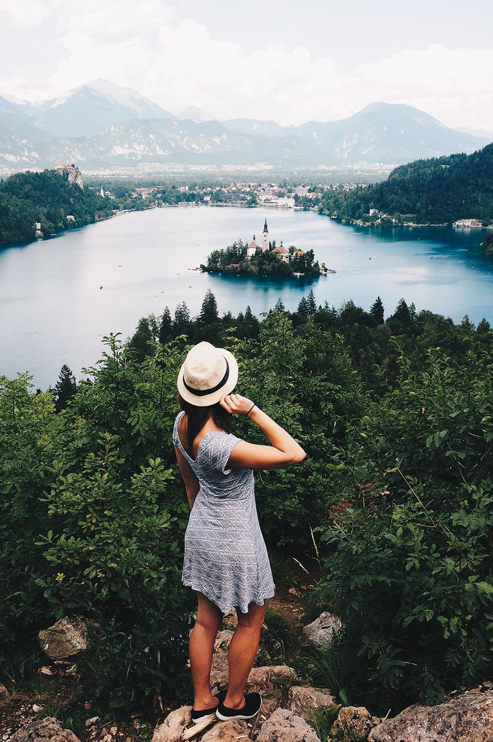 road-trip en slovénie: le lac de bled: vue depuis mala osojnica