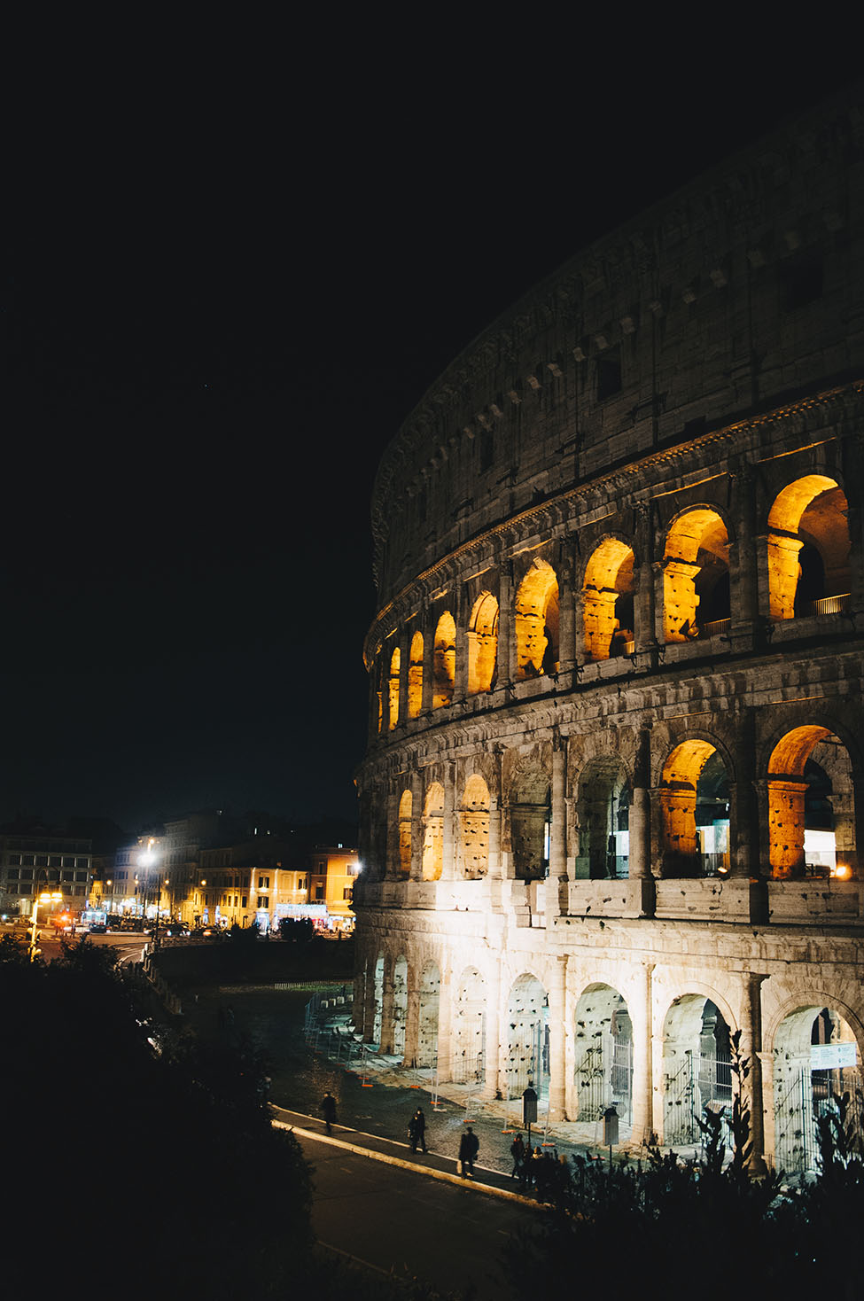 colisee, nuit, rome