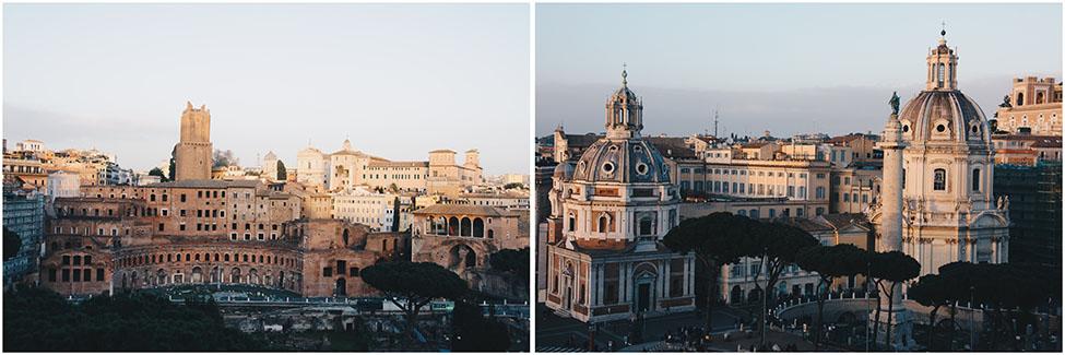coucher de soleil depuis le vittoriano, rome