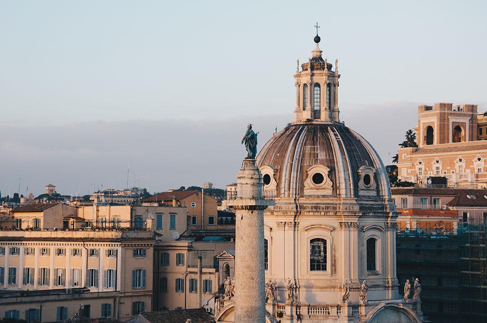 coucher soleil, rome, vittoriano