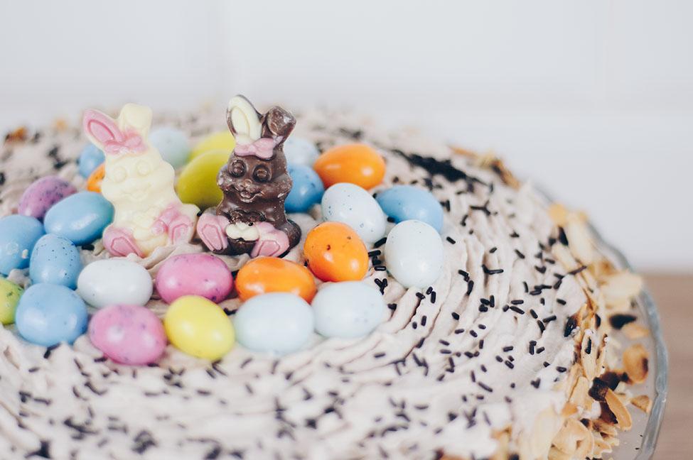 idée gâteau de pâques, nid de pâques