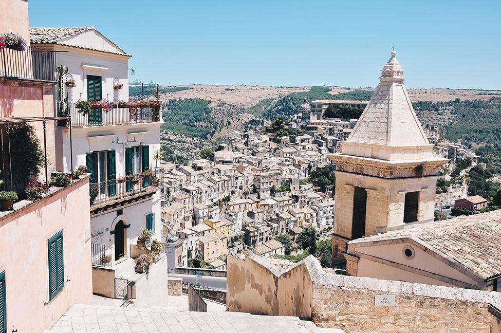road trip en sicile: raguse, vue sur ragusa ibla