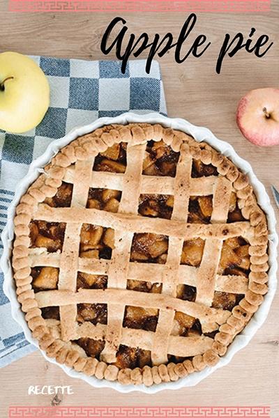 recette tarte apple pie à l'américaine