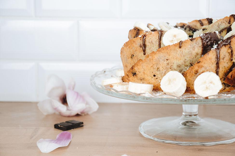 recette: bundt cake banane et pépites de chocolat