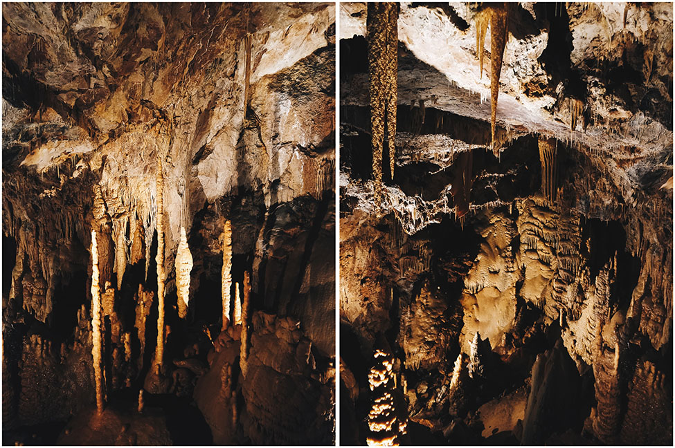 visite de la grotte de dargilan, lozere et aveyron