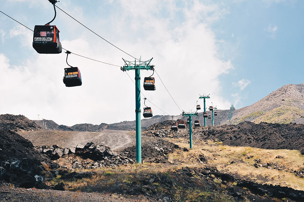 road-trip en sicile, etna, funiculaire