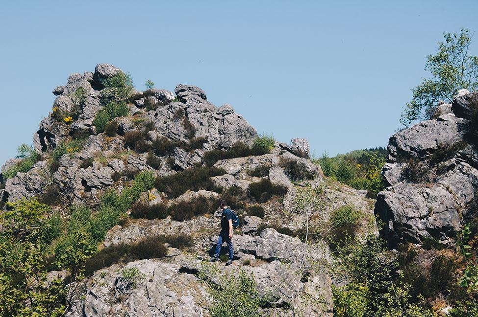 randonnée sur les crêtes de la meuse dans les ardennes, roche bayard et quatre fils aymon