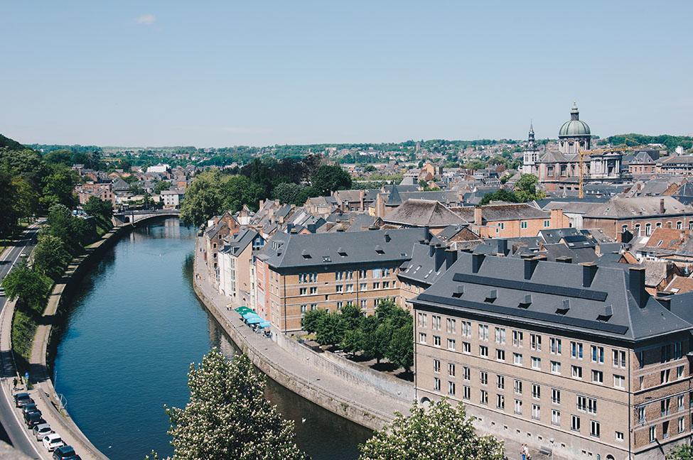 week-end à Namur, et vue sur la ville depuis la citadelle