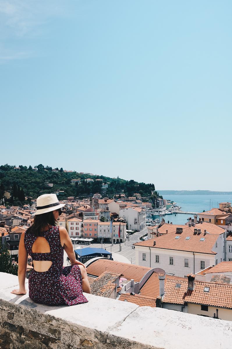 road-trip en slovénie, visite de Piran, vue depuis les remparts