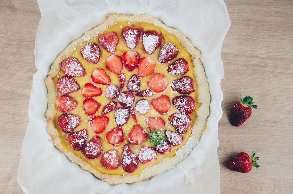 recette tarte aux fraises avec crème pâtissière