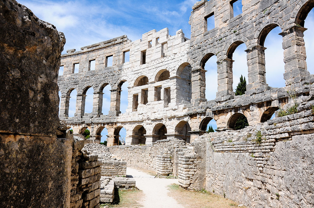 amphithéâtre de Pula , road-trip en Croatie, Istrie