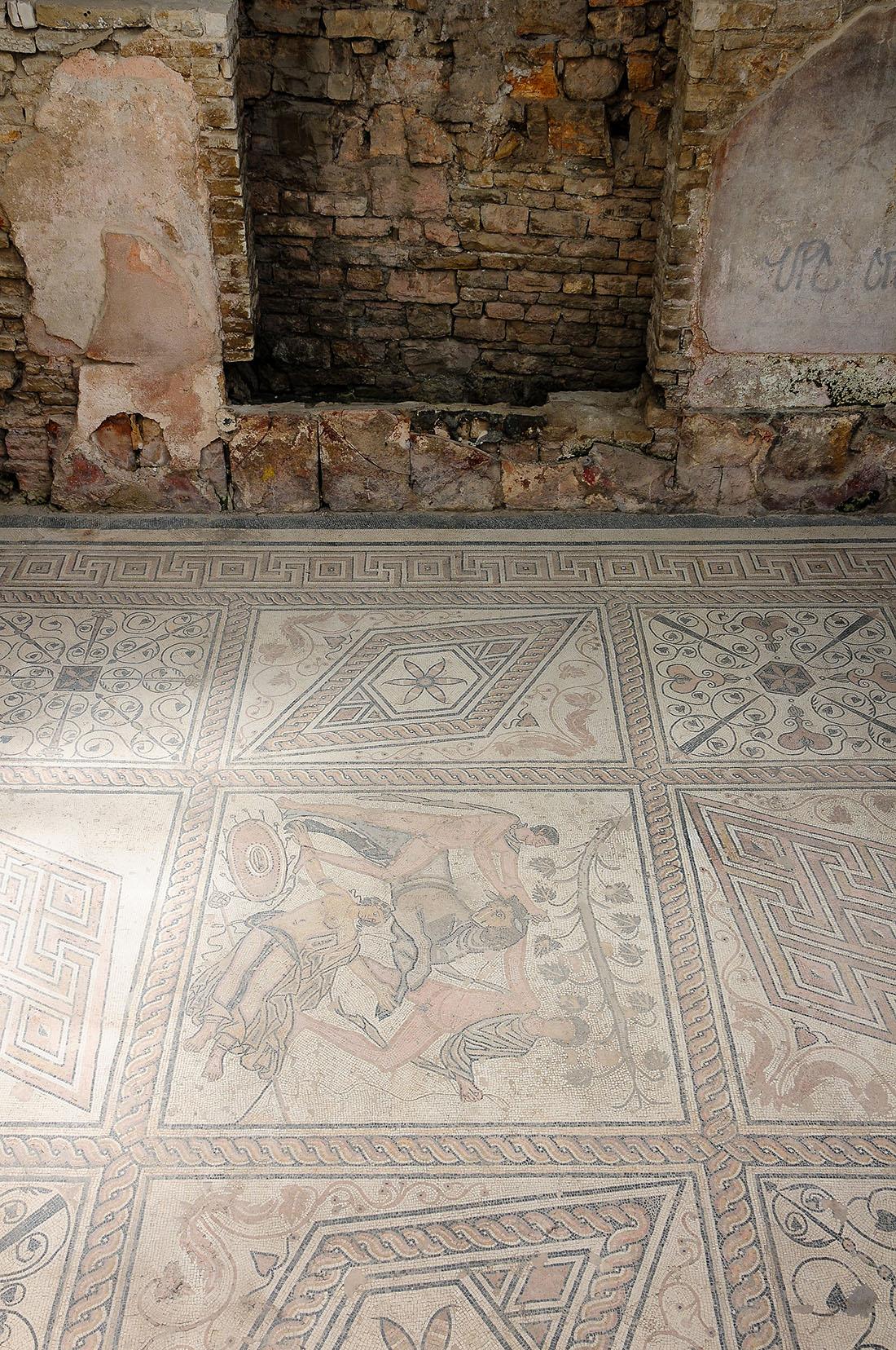 mosaïques romaines, Pula , road-trip en Croatie, Istrie