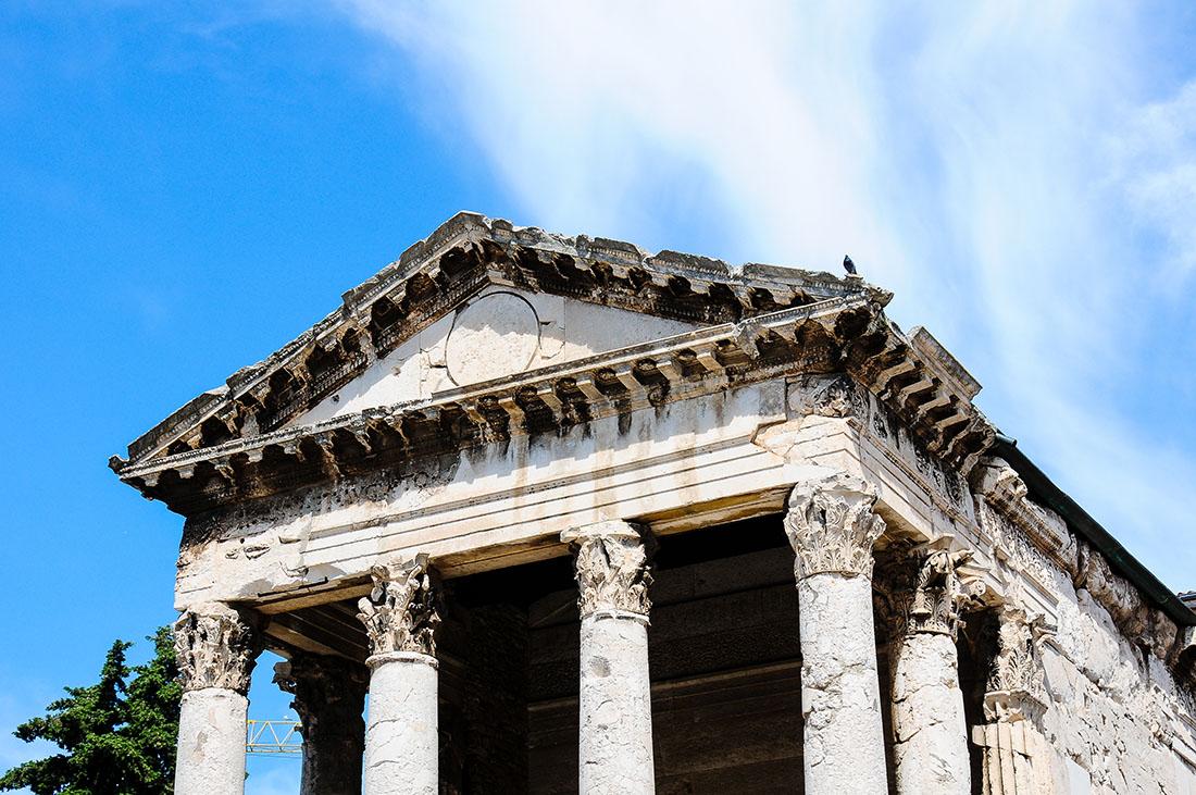 temple d'Auguste, Pula , road-trip en Croatie, Istrie